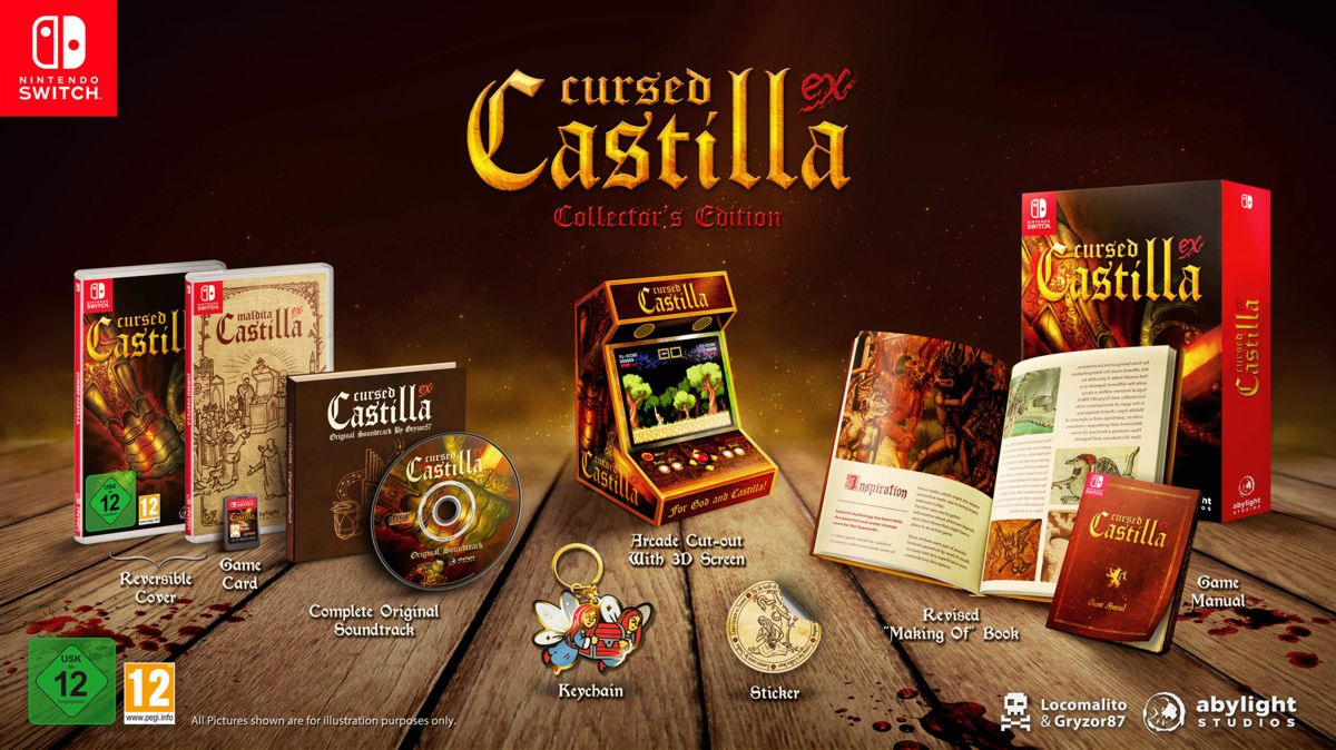 Banner Cursed Castilla for Nintendo Switch. Special Edition with Collector's Set in Abylight Shop