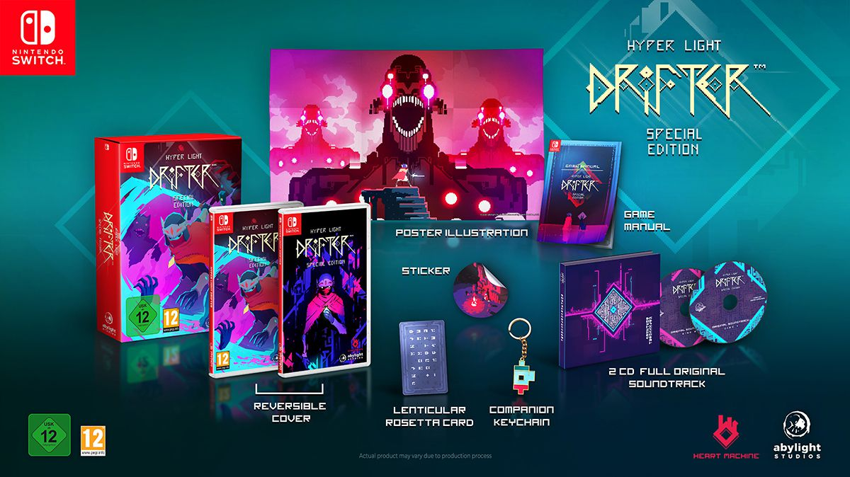 Banner Hyper Light Drifter for Nintendo Switch. Special Edition with Collector's Set in Abylight Shop